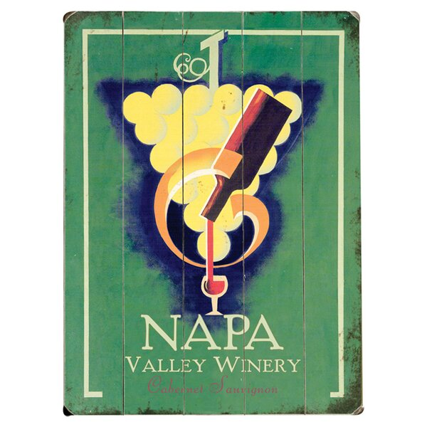 Napa Valley Winery Vintage Advertisement Multi-Piece Image on Wood by Artehouse LLC