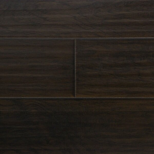 6 x 48 x 12.3mm  Laminate Flooring in Nightfall Hickory by Serradon