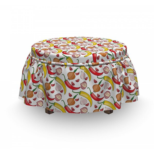 Peppers And Onions Ottoman Slipcover (Set Of 2) By East Urban Home