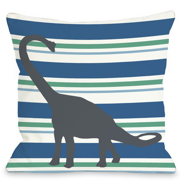 Apostosaurus Throw Pillow by One Bella Casa
