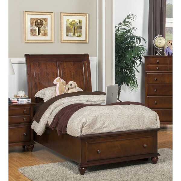 Jarvis Sleigh Bed with Drawers by Alcott Hill