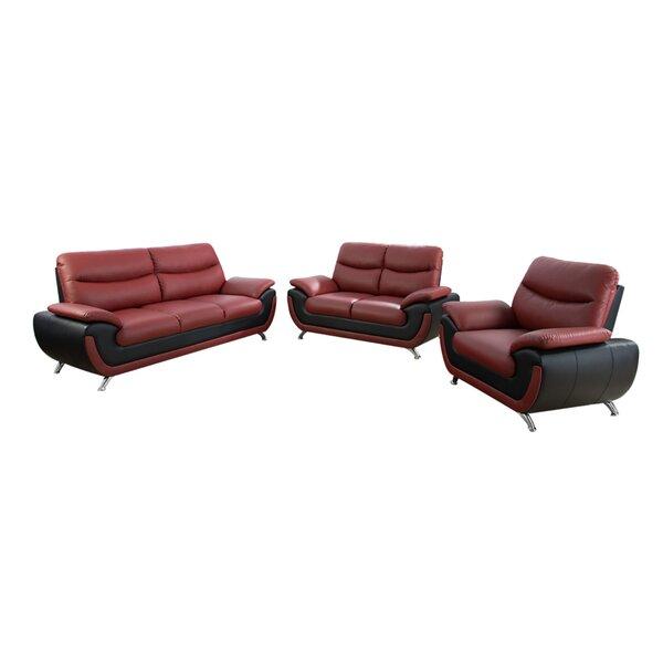 Kirchner 3 Piece Configurable Living Room Set by Orren Ellis