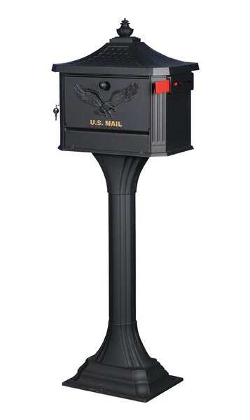 Pedestal Locking Mailbox with Post Included by Gibraltar Mailboxes