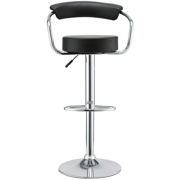 Channon Modern Adjustable Height Swivel Bar Stool (Set of 2) by Orren Ellis