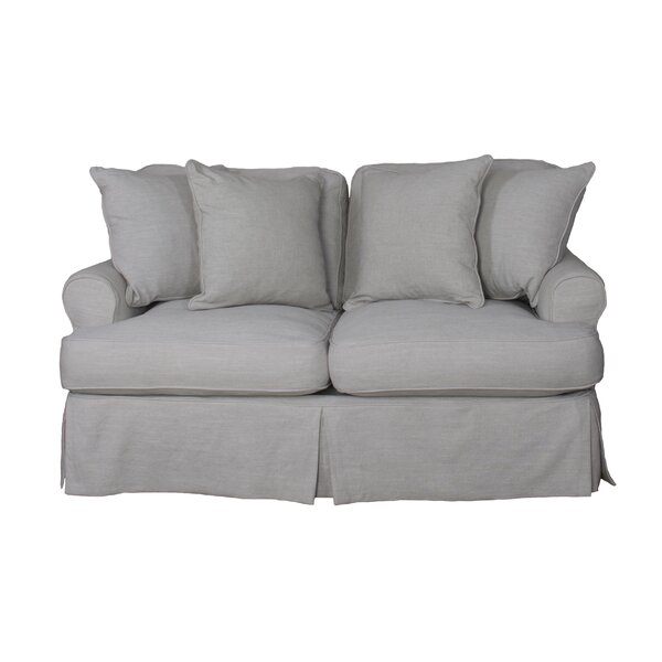 Lowest Priced Callie Slipcovered Loveseat by August Grove by August Grove