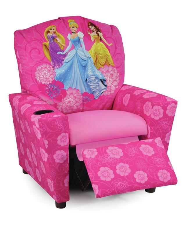 Disney Princesses Kids Recliner With Cup Holder