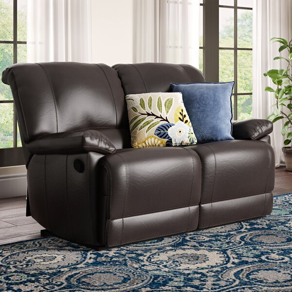 Edgar Reclining Loveseat by Andover Mills