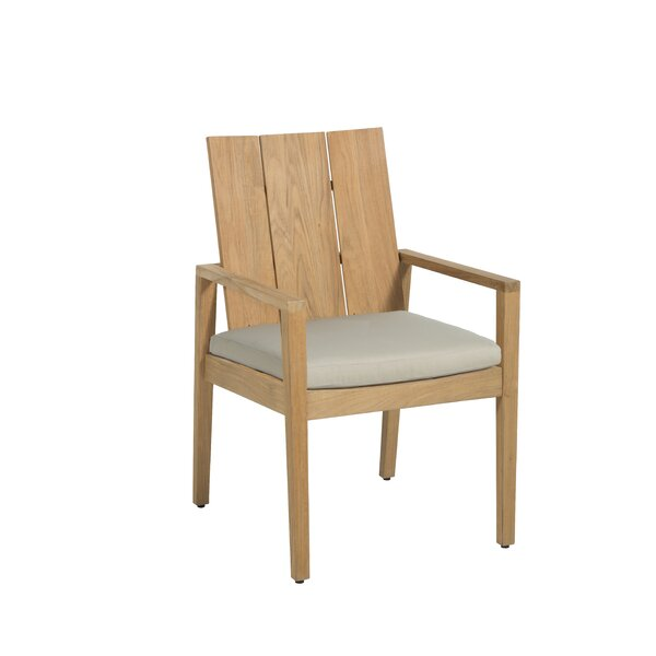Ashland Teak Patio Dining Chair with Cushion by Summer Classics