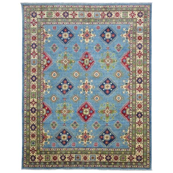 Roslyn Oriental Hand Woven Wool Blue Area Rug by Bloomsbury Market