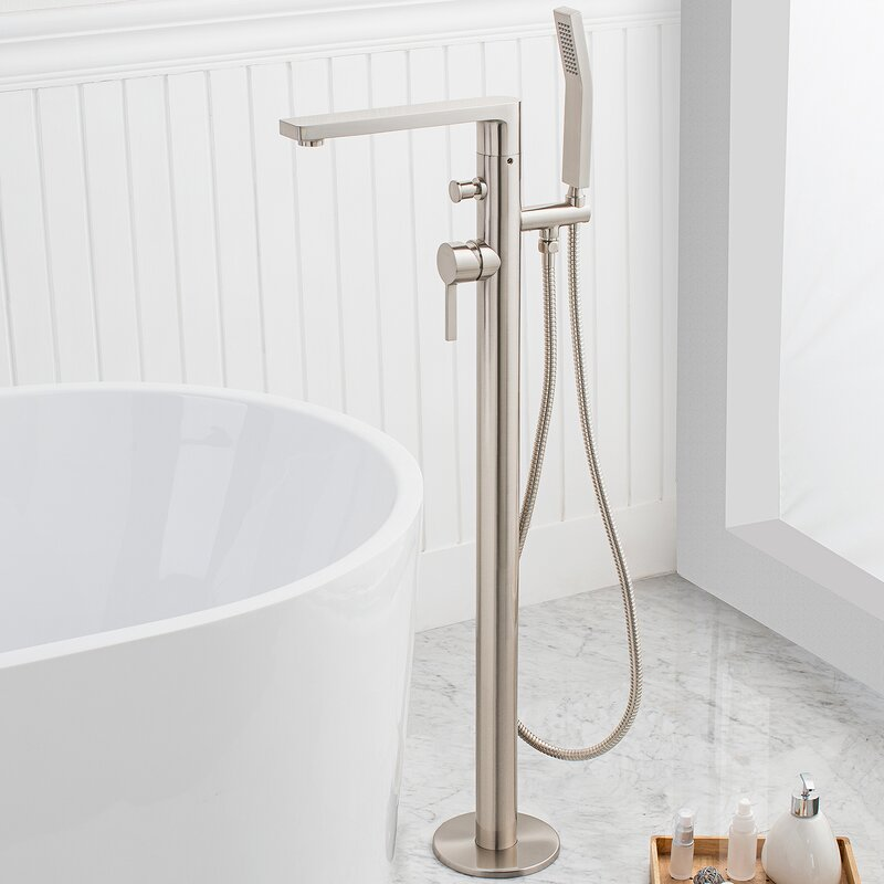 freestanding tub faucet bronze. friedrich single handle floor mounted freestanding tub filler with hand shower faucet bronze