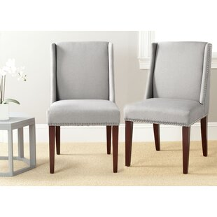 collier solid birch upholstered dining chair set of 2 by safavieh