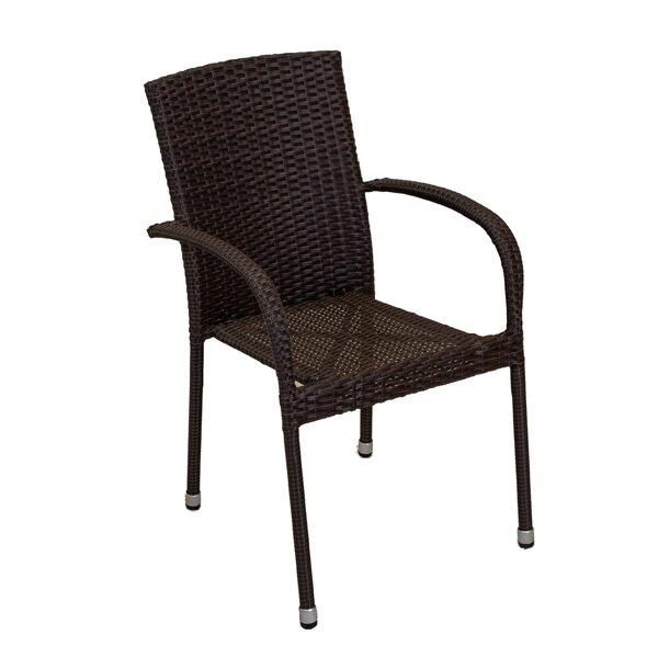 Avalon Stacking Patio Dining Chair (Set Of 4) By Longshore Tides by Longshore Tides Discount