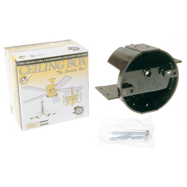 Round Ceiling Cable Box for Ceiling Fans by HubbellRaco