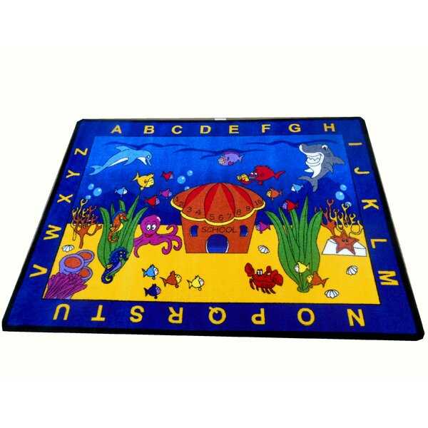 See the Sea Blue/Yellow Area Rug by Kids World Carpets