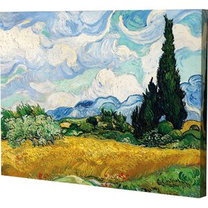 Cypress by Vincent Van Gogh Painting Print on Wrapped Canvas by Alcott Hill