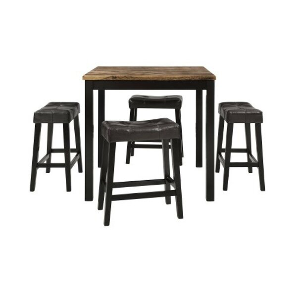 Hampden 5 Piece Counter Height Breakfast Nook Dining Set by Red Barrel Studio Red Barrel Studio