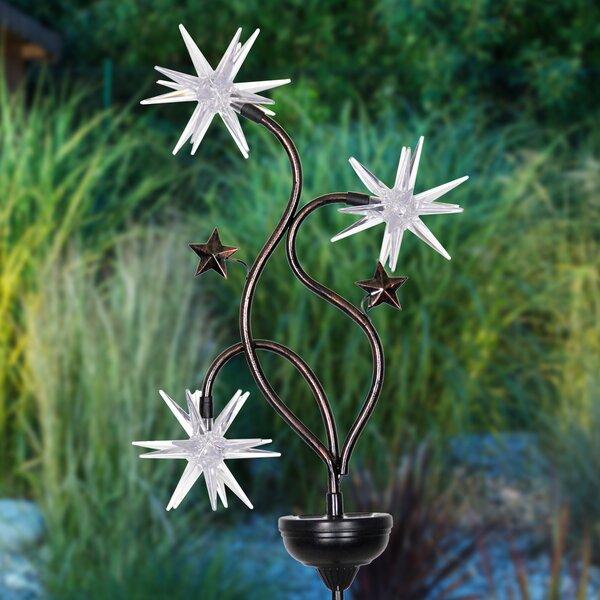 Estep Solar Patriotic Triple Starburst Garden Stake by August Grove