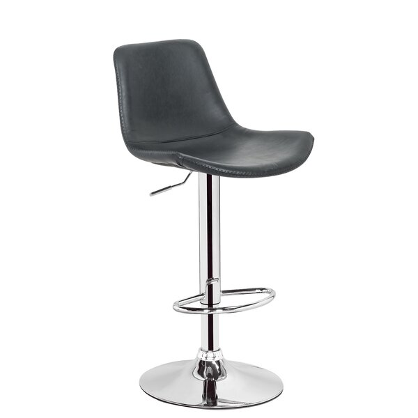Travis Adjustable Height Swivel Bar Stool by George Oliver