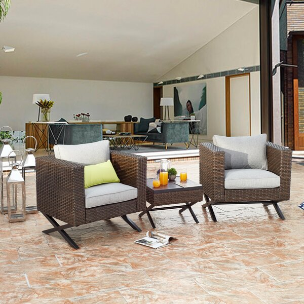 Rimersburg 3 Piece Seating Group with Cushions by Latitude Run