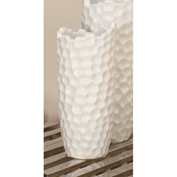 Kirshe Eclectic Dimpled Honeycomb Table Vase (Set of 2) by Orren Ellis