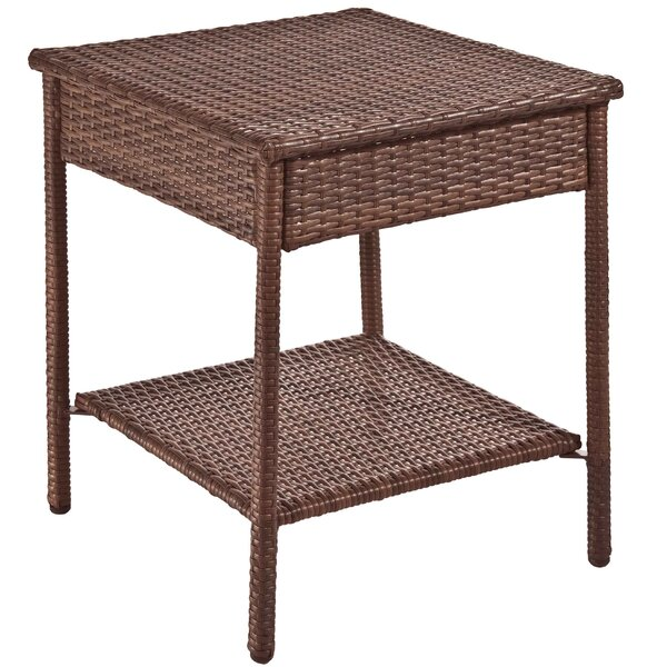 Key Biscayne Wicker/Rattan Side Table by Panama Jack Outdoor