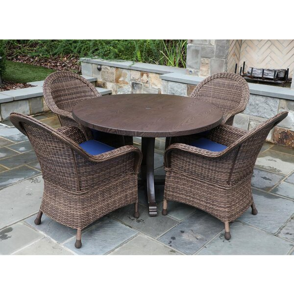 Billy 5 Piece Dining Set with Cushions by Rosecliff Heights