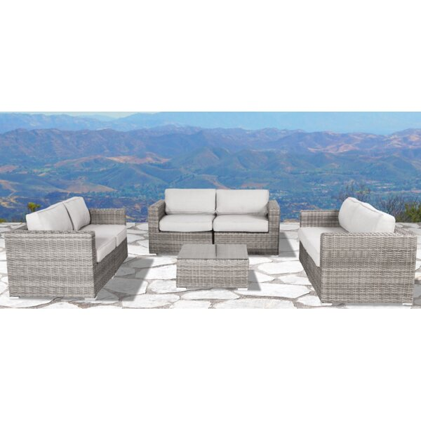Deandra 7 Piece Sectional Seating Group with Cushions