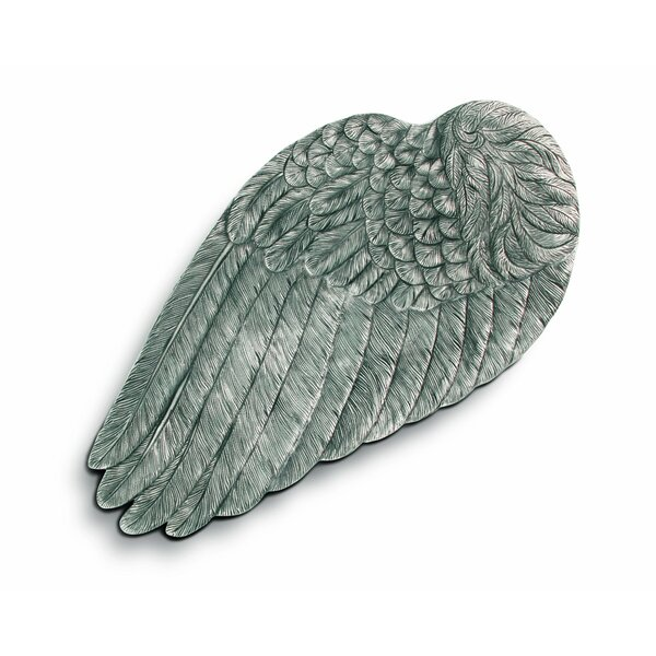 Song Bird Pewter Wing of Icarus Serving Tray by Vagabond House