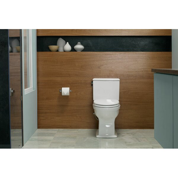 Connelly Universal Height Dual Flush Elongated Two-Piece Toilet with CeFiONtect by Toto