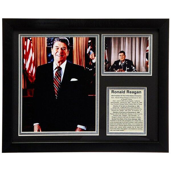 Ronald Reagan Framed Memorabilia by Legends Never Die