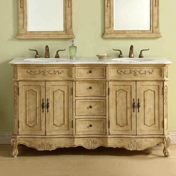 Meriden 60 Double Bathroom Vanity Set by Astoria G
