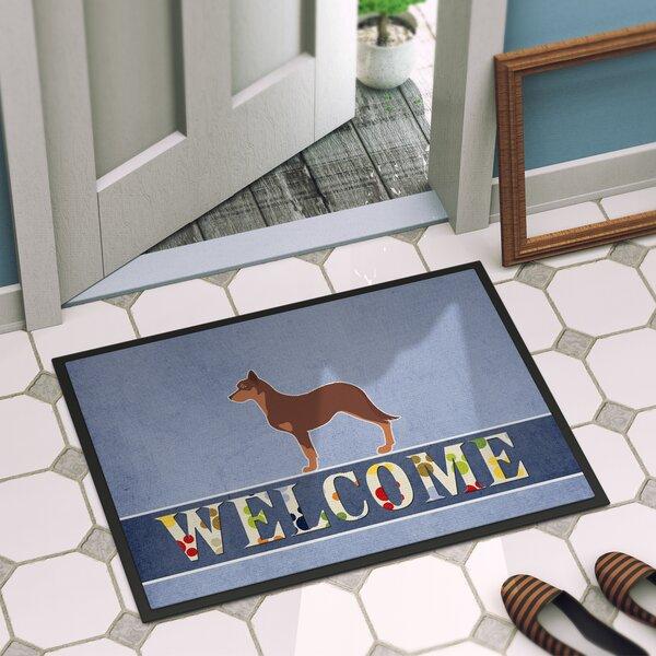 Australian Kelpie Dog Indoor/Outdoor Doormat by Caroline's Treasures