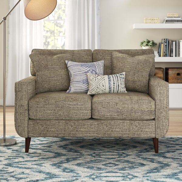 Trendy Modern Grandin Loveseat New Seasonal Sales are Here! 60% Off