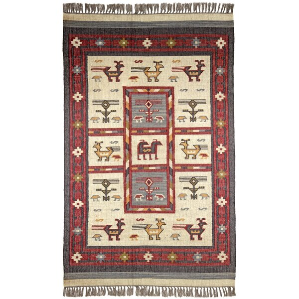 Hacienda Off-White / RedTribal Area Rug by St. Croix