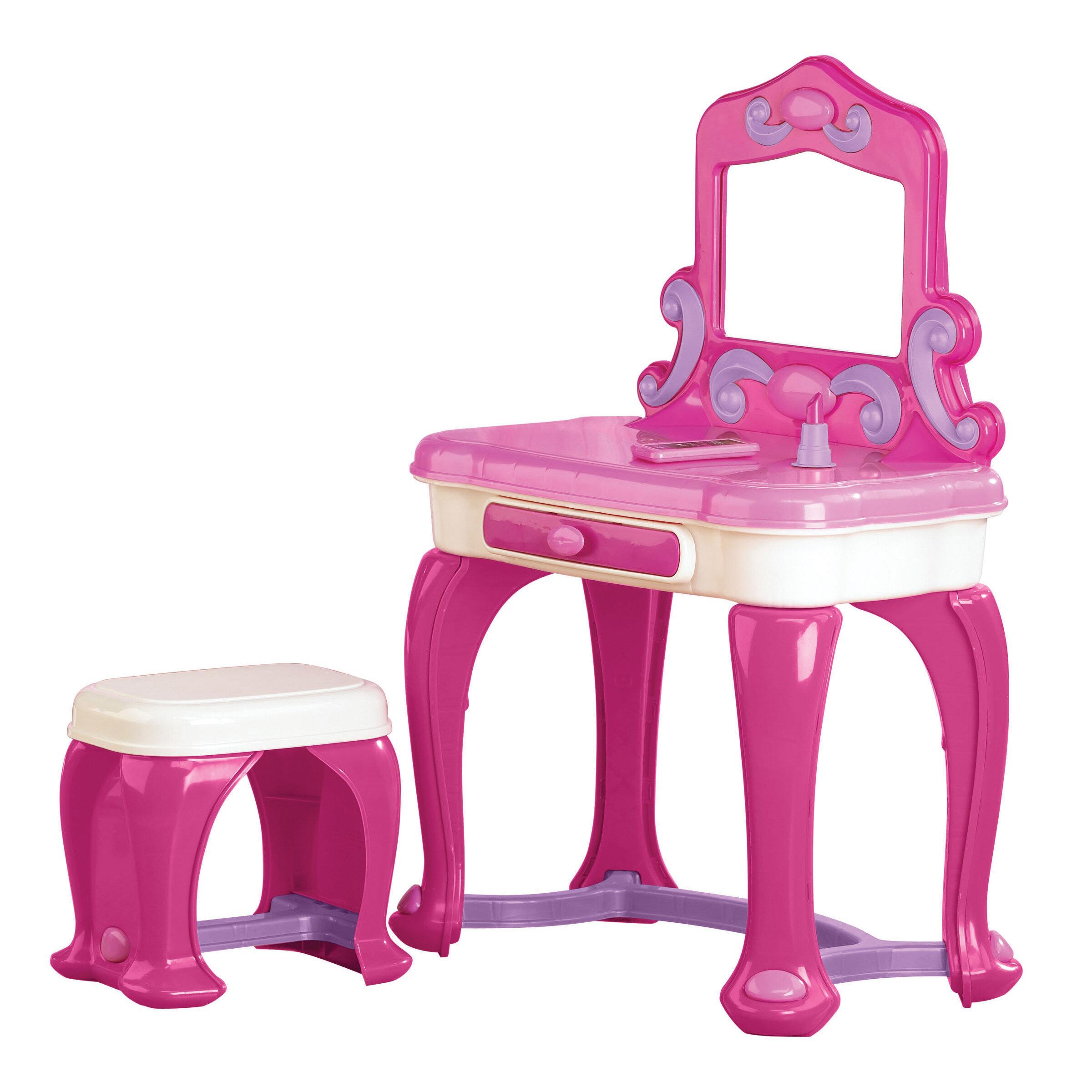 Amazing Khadijah Deluxe Vanity Set With Mirror Creativecarmelina Interior Chair Design Creativecarmelinacom