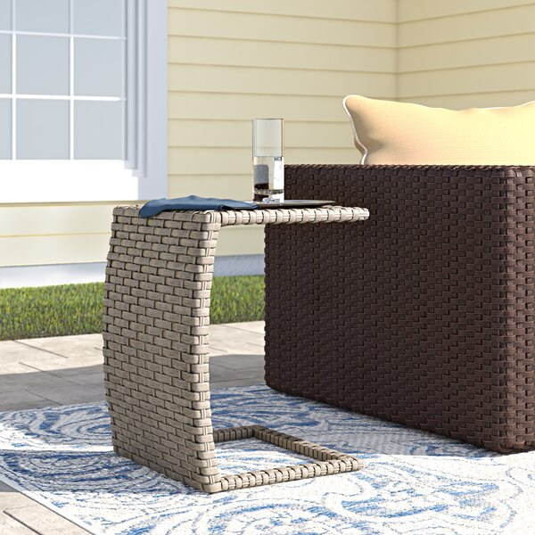 Rockport Wicker Side Table by Sol 72 Outdoor