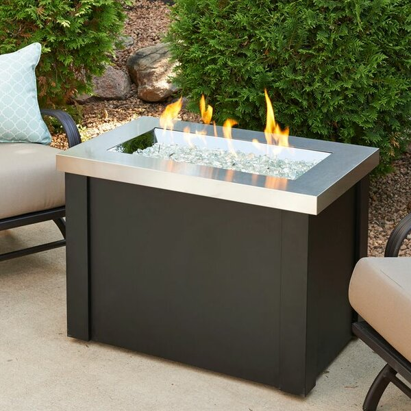 The Outdoor GreatRoom Company Providence Metal Gas Fire Pit Table & Reviews  | Wayfair