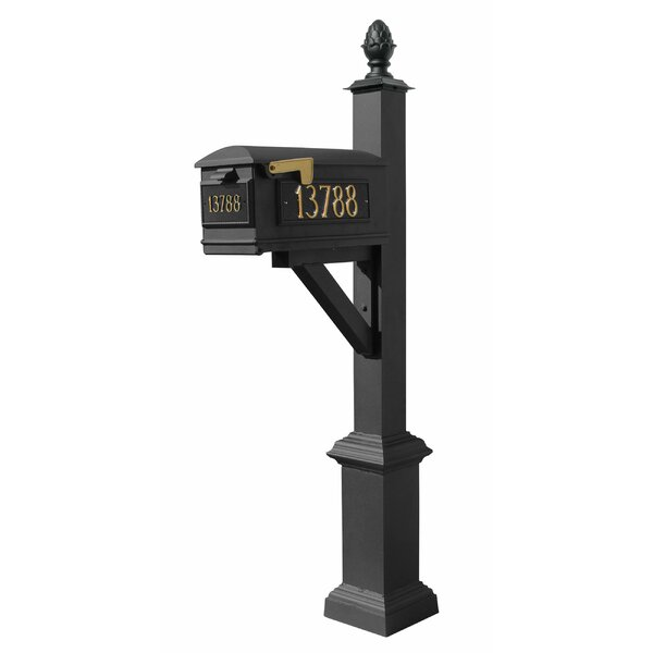 Westhaven Lewiston Mailbox with Post Included by Qualarc