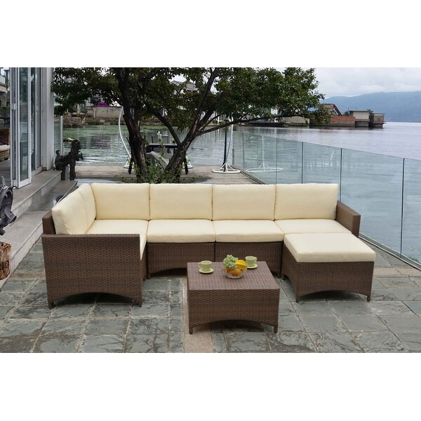 Nelligan Modular 4 Piece Sectional Seating Group with Cushions by Wrought Studio