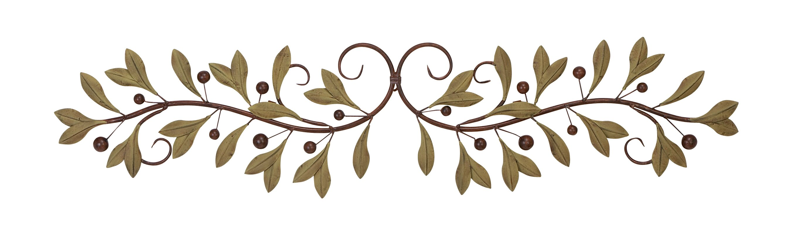 Metal Leaf Scroll Wall Décor