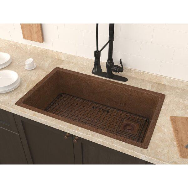 Strait 31 x 18 Undermount Kitchen Sink with Basket Strainer and Basin Grid by ANZZI