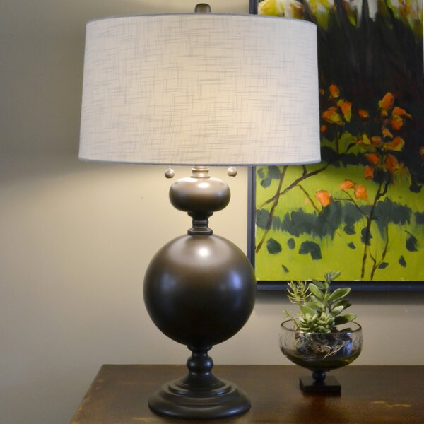 Bronzed Steel 30.5 Table Lamp by Wildon Home ®
