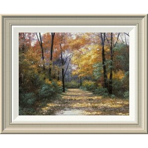 'Autumn Road' by Diane Romanello Framed Painting Print by Global Gallery