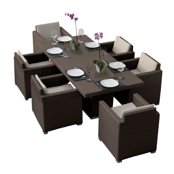 Westcott 7 Piece Dining Set with Cushions by Brayden Studio