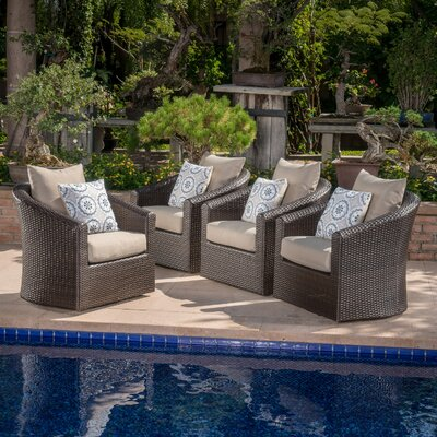 modern outdoor patio furniture. Dierdre Modern Outdoor Wicker Swivel Club Patio Chair With Cushions Modern Outdoor Patio Furniture