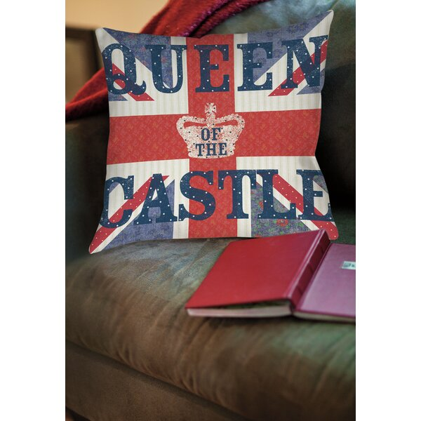 My Queen Castle Square Printed Throw Pillow by Manual Woodworkers & Weavers