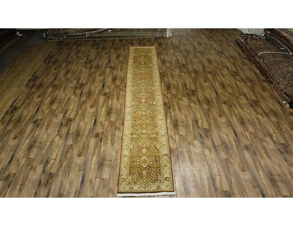 One-of-a-Kind Miranda Pakistan Oriental Hand-Knotted Wool Beige Area Rug by Astoria Grand
