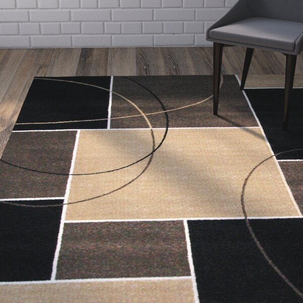 Tedford Chocolate/Gray Area Rug by Brayden Studio