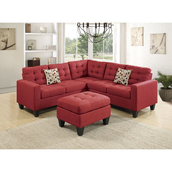 Premium Shop Moores Symmetrical Sectional with Ottoman by Ebern Designs by Ebern Designs