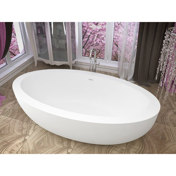 Lusso 75.5 x 40.5 Freestanding Soaking Bathtub by ANZZI